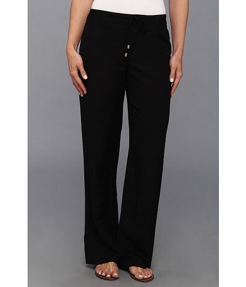 Calvin Klein - Linen Wide Leg Pant (Black) Women