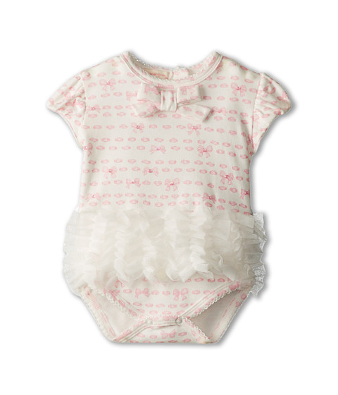 Biscotti - Bows for Baby One-Piece (Newborn) (Ivory) Girl's Jumpsuit & Rompers One Piece