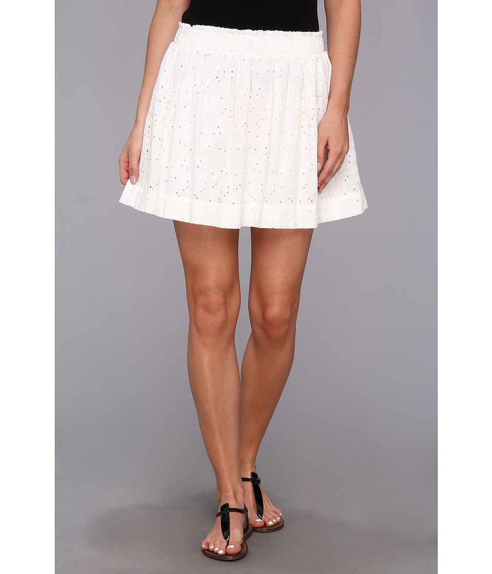 C&C California - Eyelet Mini Skirt (White) Women