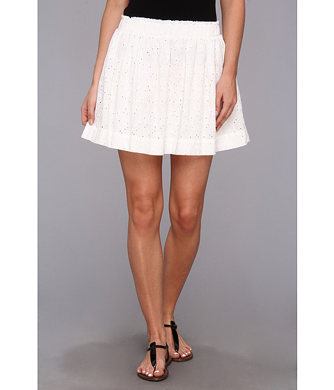 C&C California - Eyelet Mini Skirt (White) Women's Skirt