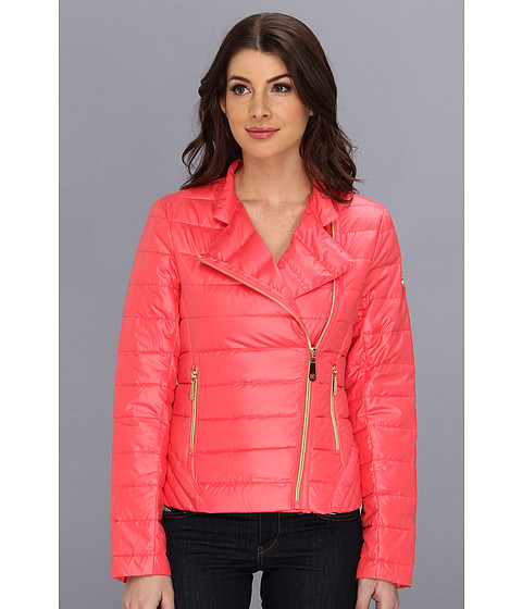 Vince Camuto - Asymmetrical Stand Collar Down Jacket (Berry) Women