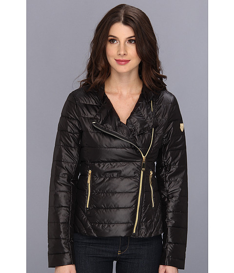 Vince Camuto - Asymmetrical Stand Collar Down Jacket (Black) Women's Coat