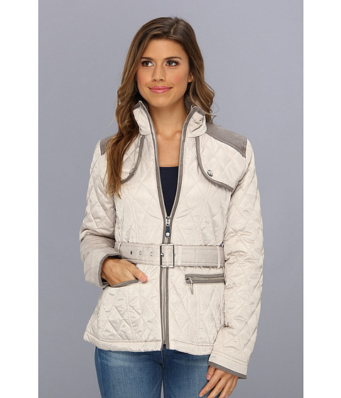 Vince Camuto - Quilted Zip Front Belted Jacket F8021 (Clay) Women
