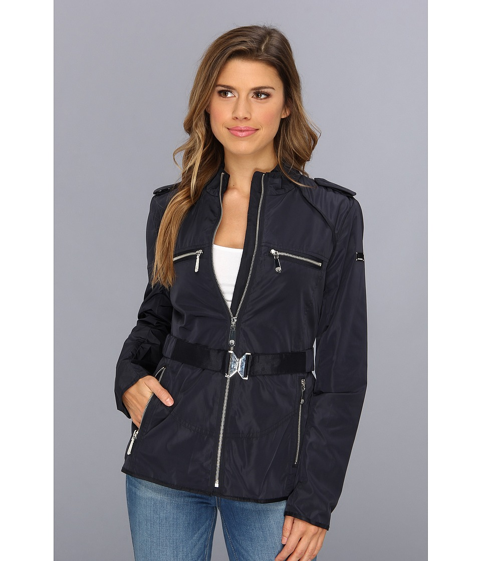 Vince Camuto - Grosgrain Trim Zip Jacket (Navy) Women's Coat
