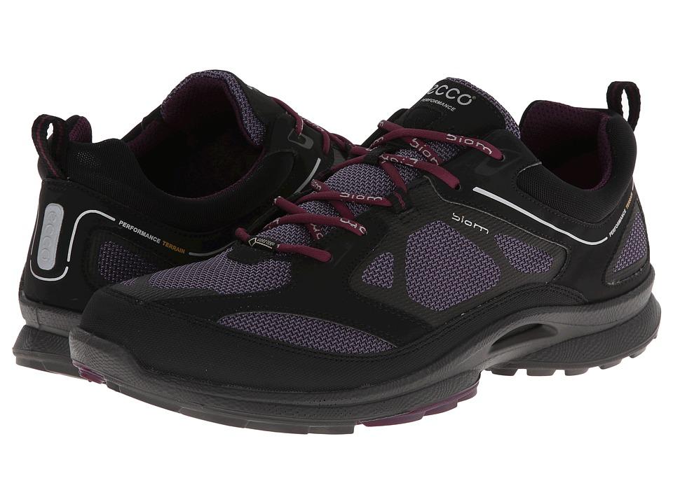 ECCO Sport - Biom Ultra Quest GTX (Black/Light Purple/Burgundy Synthetic/Textile/Decoration) Women