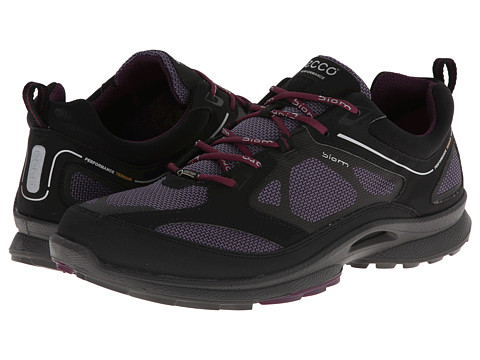 ECCO Sport - Biom Ultra Quest GTX (Black/Light Purple/Burgundy Synthetic/Textile/Decoration) Women