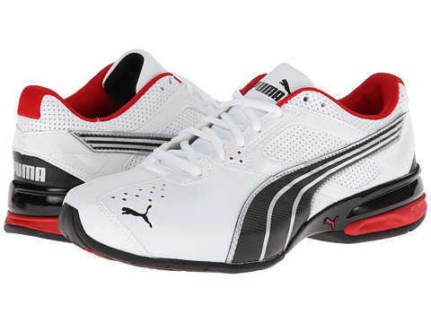 PUMA - Tazon 5 NM (White/Black/Ribbon Red) Men's Running Shoes