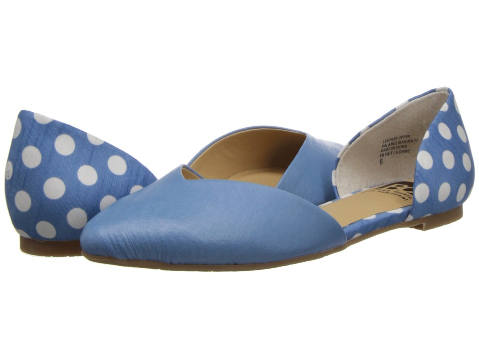 BC Footwear - Up All Night (Light Blue/Dots) Women's Flat Shoes