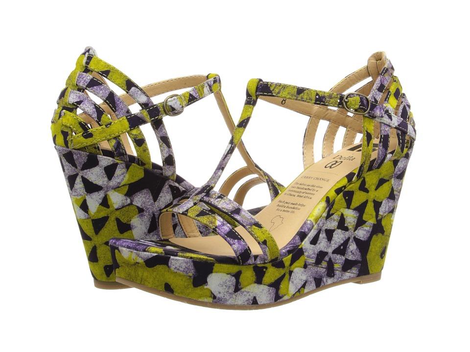 BC Footwear - I Got It (Della Green Print) Women's Wedge Shoes