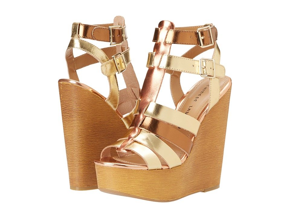 Chinese Laundry - Jump Drive (Mixed Gold) Women's Wedge Shoes