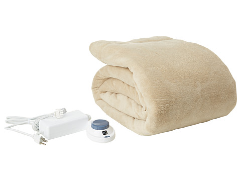 UPC 038533806004 Product Image For Serta Luxe Plush Electric Warming  Blanket   Queen (Pearl) ...