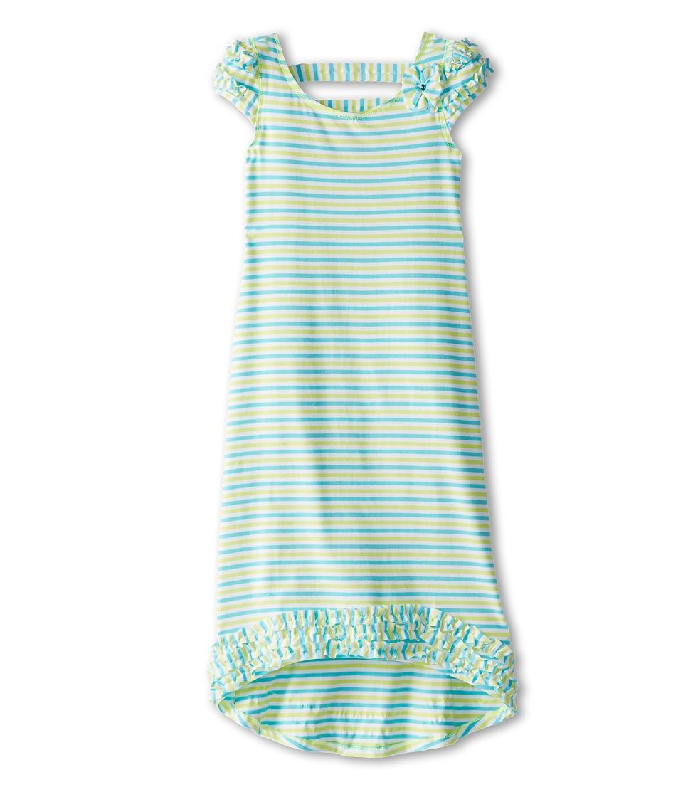 Kate Mack - Sun Circus Dress Maxi (Big Kids) (Aqua Blue) Girl