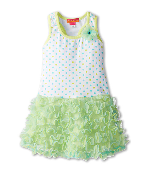 Kate Mack - Sun Circus Dress (Toddler) (Aqua Blue) Girl's Dress