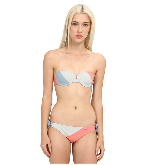 Emporio Armani - Palm Springs - Balconette with Side String Bottom (Cloud/Ice/Coral) Women