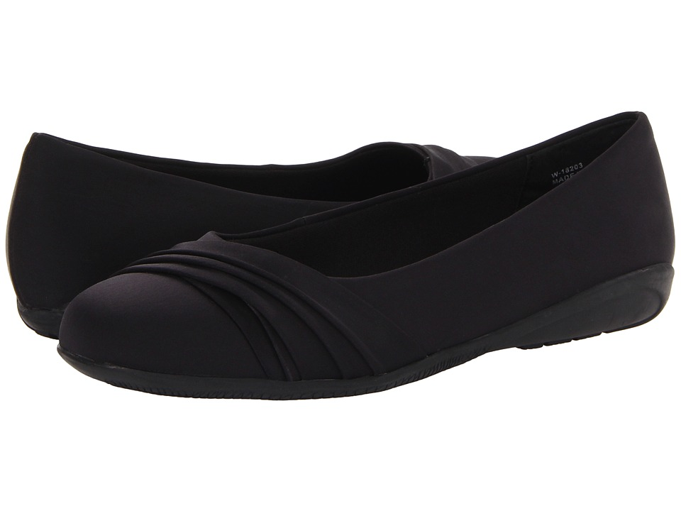 Walking Cradles - Flick (Black Micro Soft Leather) Women's Slip on Shoes