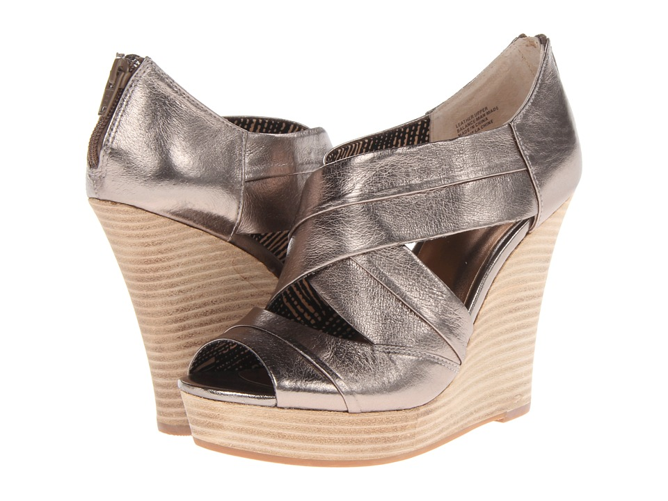 Seychelles - Risky Business (Pewter/Stacked Bottom) Women's Wedge Shoes