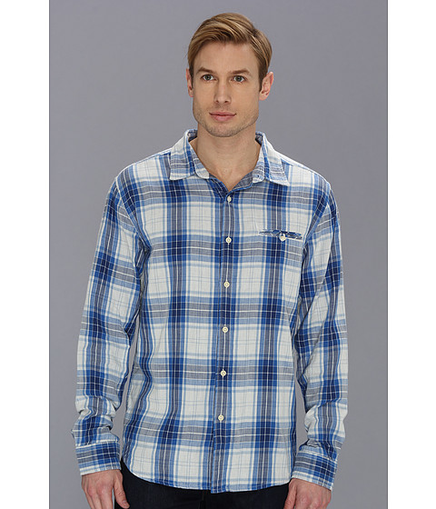Lucky Brand - Somerset Plaid One-Pocket (Blue Multi) Men