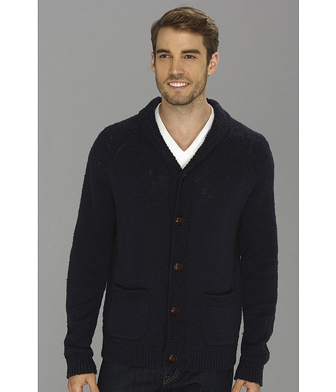 Lucky Brand - Slub Shawl Cardigan (American Navy) Men's Sweater
