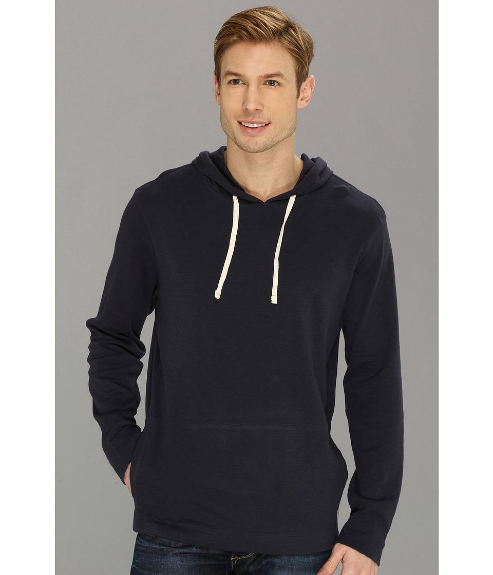 Lucky Brand Double Knit Hoodie Mens Sweatshirt (Navy)