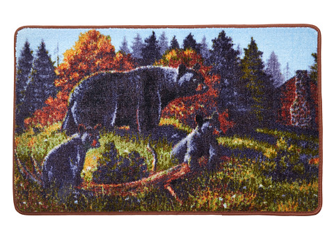 Avanti - Black Bear Lodge Rug (Multi) Bath Towels