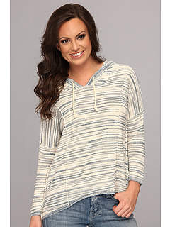 SALE! $59.2 - Save $40 on Lucky Brand Malibu Stripe Hoodie (Blue Multi) Apparel - 40.20% OFF $99.00