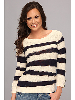 SALE! $44.99 - Save $54 on Lucky Brand Atwater Intarsia Stripe (Blue Multi) Apparel - 54.56% OFF $99.00