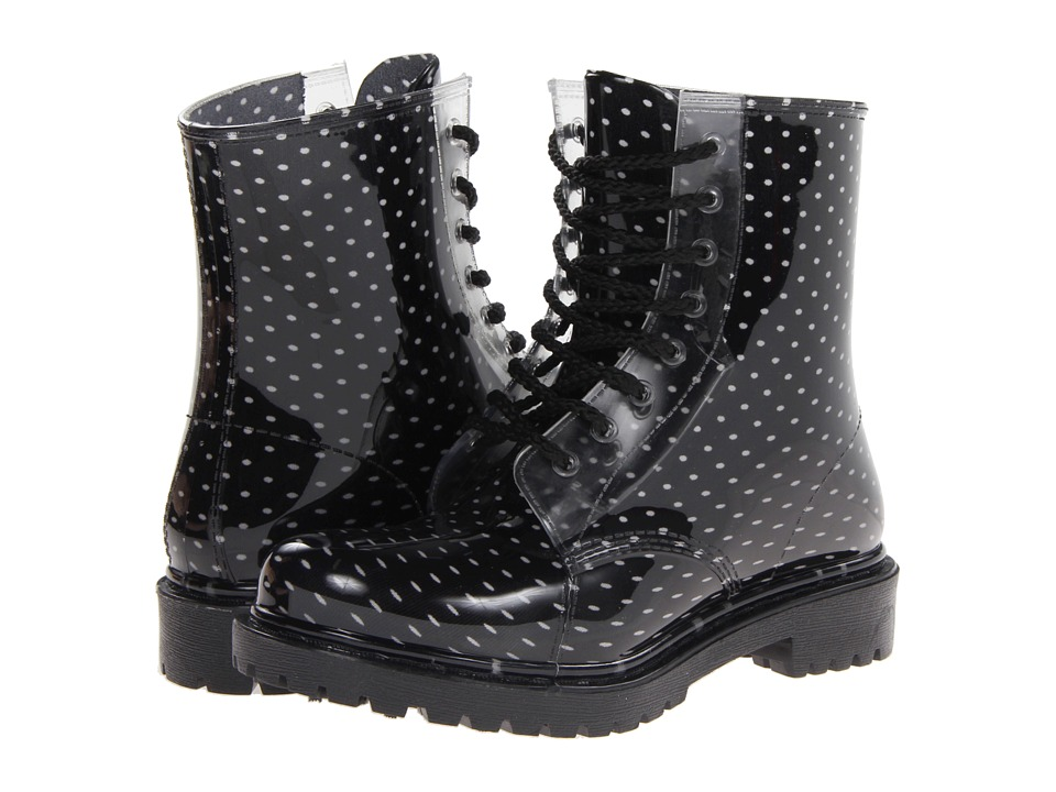 Dirty Laundry Roadie (Black/White Polka Dot) Women