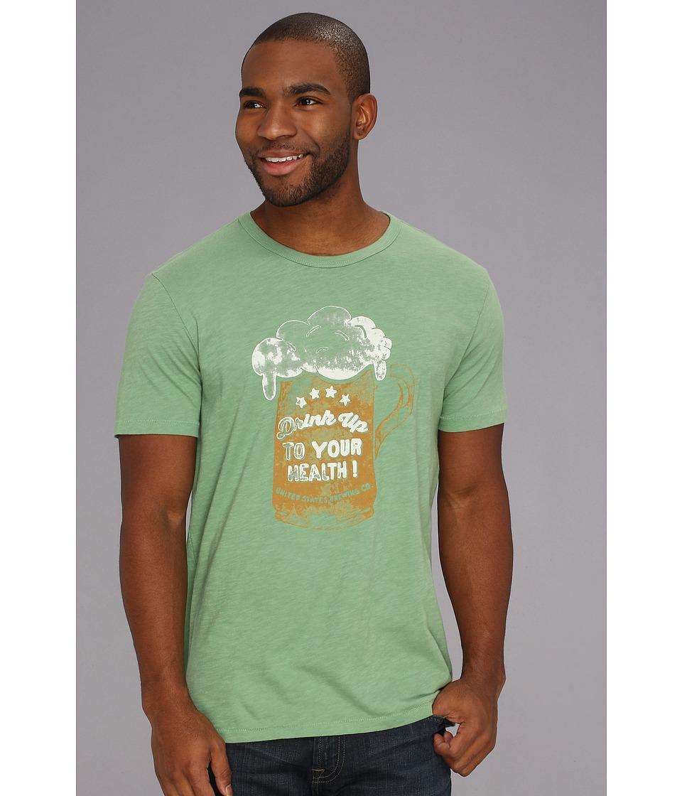 Lucky Brand Drink Up Tee Mens T Shirt (Green)