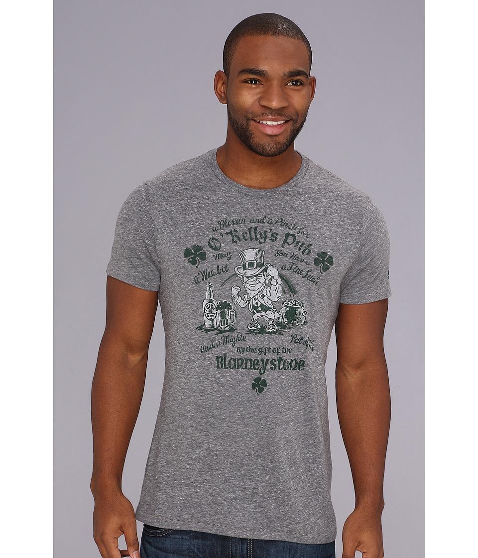 Lucky Brand Leprechaun Heathered Tee Mens T Shirt (Gray)