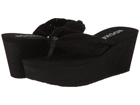 Rocket Dog - Dock (Black/Crochet) Women's Sandals