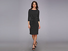 Adrianna Papell Asymmetrical Dress w/ Dots