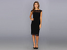 Adrianna Papell Placed Lace Border Dress (Black)