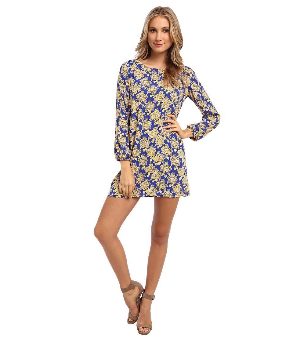Brigitte Bailey - Skyler Shift Dress (Yellow Flower) Women's Dress