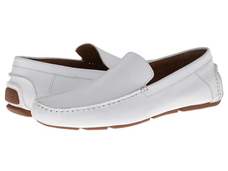 Calvin Klein - Miguel (White Leather) Men's Shoes