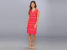 Adrianna Papell Placed Insets Dress