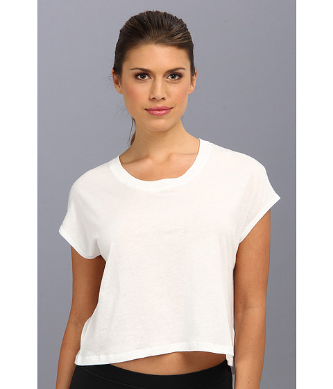 C&C California - Shape Loose Crop Tee (Bright White) Women