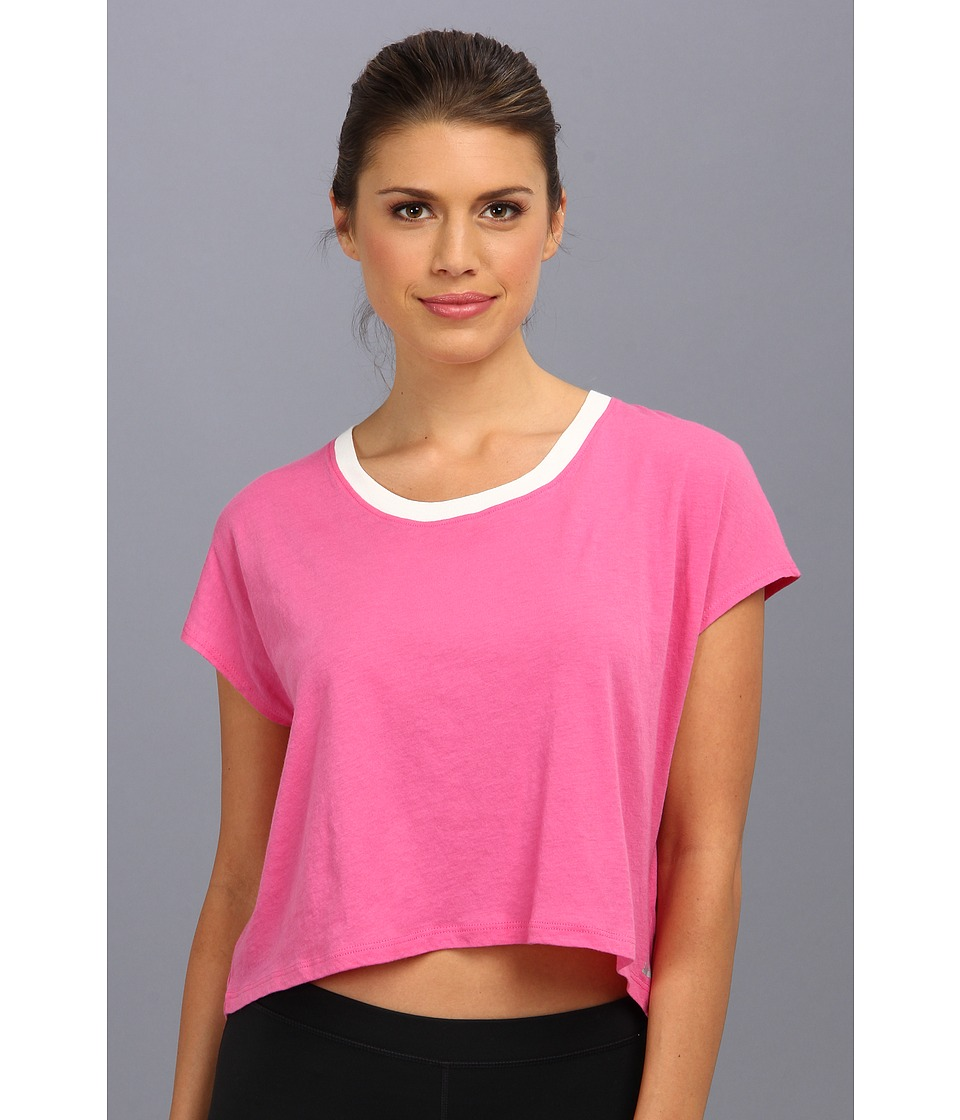 C&C California Shape Loose Crop Tee (Carmine Rose) Women