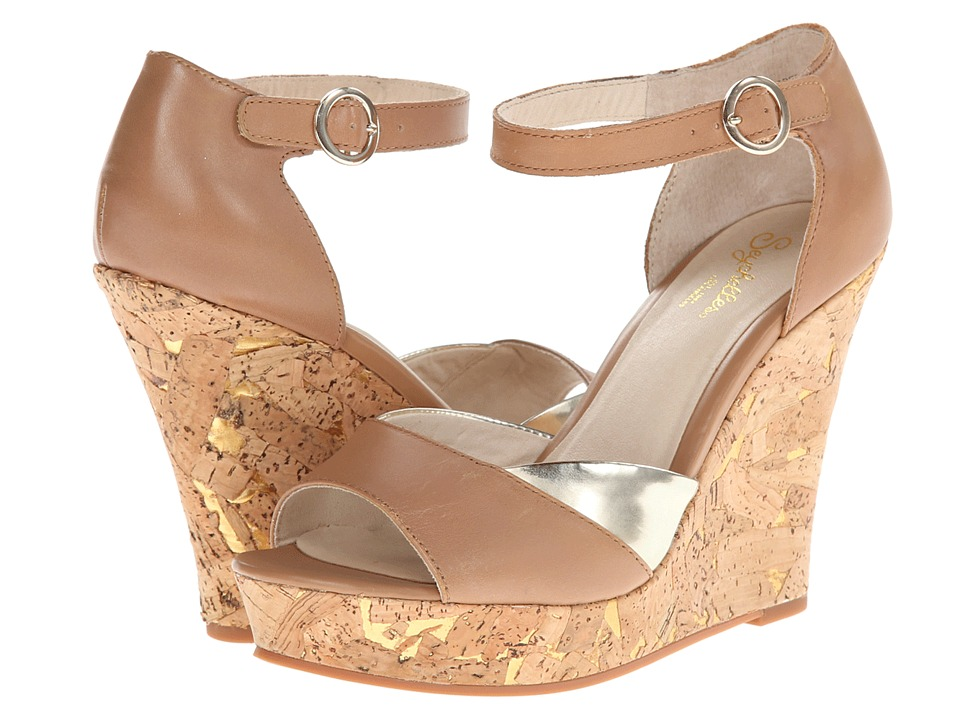 Seychelles - Make It Snappy (Tan/Pale Gold) Women's Wedge Shoes