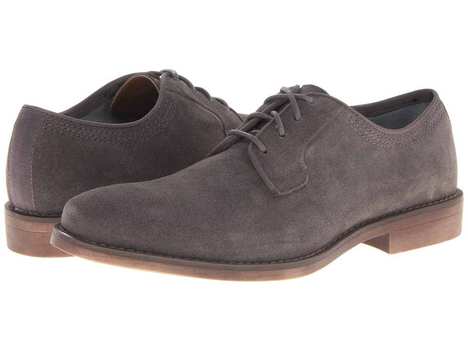 Calvin Klein - Oran (Dark Grey Suede) Men's Plain Toe Shoes