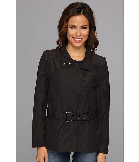 Calvin Klein Jeans - Detachable Biker Trench (Black) Women's Coat