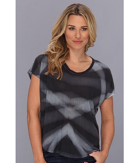 Calvin Klein Jeans - Printed U Neck Tee (Charcoal Grey) Women