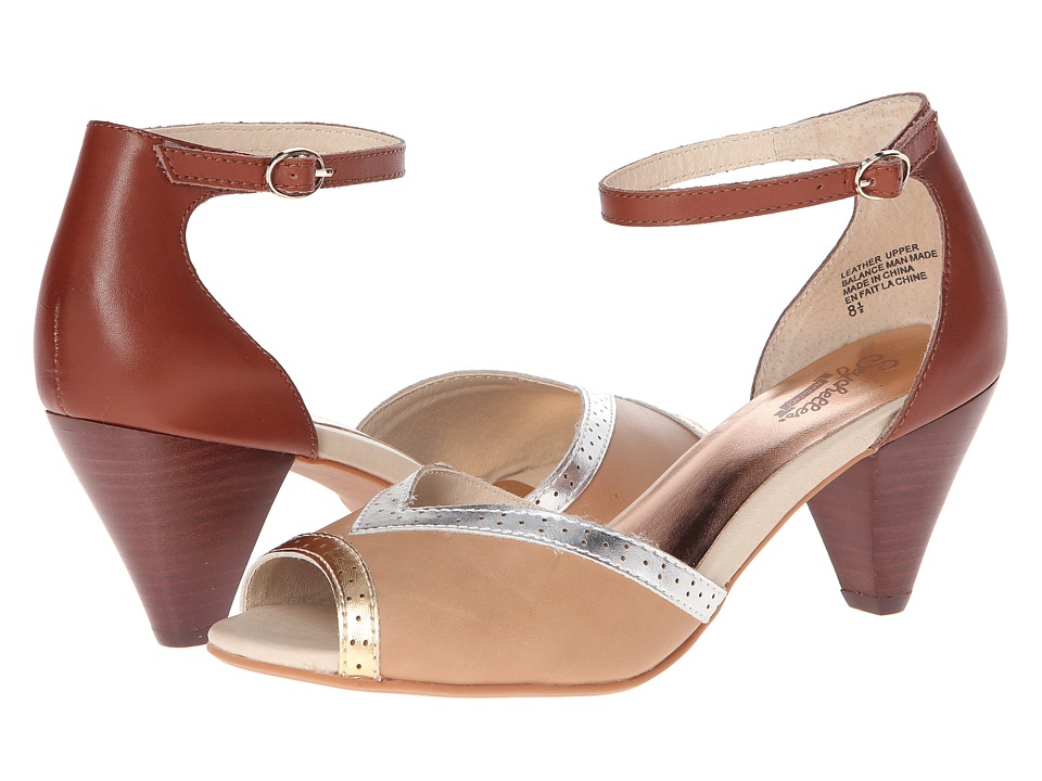 Seychelles - Stagefright (Tan/Metallic) High Heels