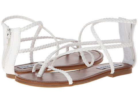 Shop Steve Madden online and buy Steve Madden Kay White Patent Shoes - Steve Madden - Kay (White Patent) - Footwear: Keep your summer look simple with the Kay sandal. ; Faux leather upper. ; Back zipper closure. ; Smooth man-made lining. ; Lightly padded footbed. ; Man-made outsole. ; Imported. Measurements: ; Heel Height: 1 2 in ; Weight: 6 oz ; Product measurements were taken using size 9, width M. Please note that measurements may vary by size.