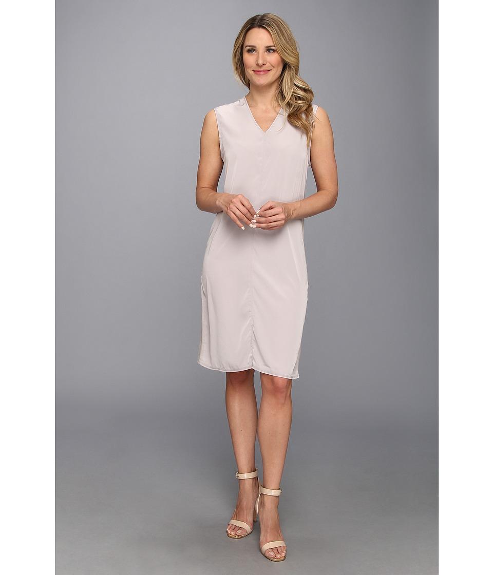 Calvin Klein Jeans - V-Neck T-Shirt Dress (Gull Grey) Women's Dress