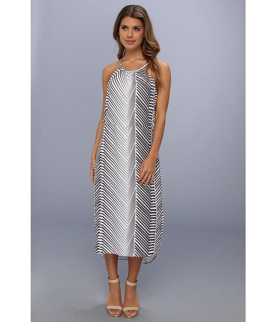 Calvin Klein Jeans - Printed Cross Back Halter Dress (Grey Stone) Women