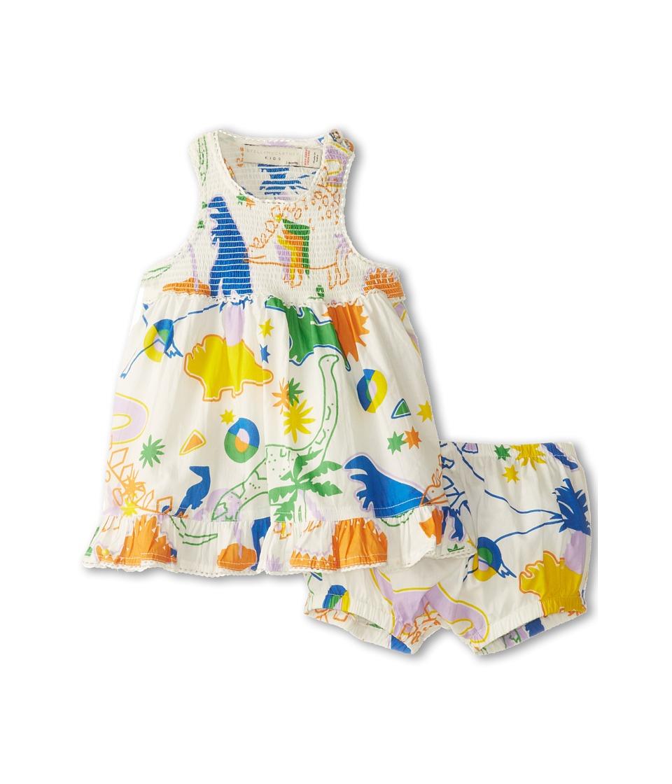 Stella McCartney Kids Ella Baby Girl Dinosaur Print Dress With Bloomers Girls Sets (Multi)