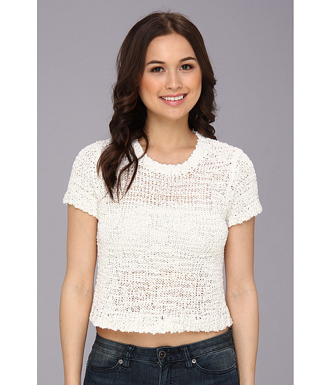 Sanctuary - Favorite Crop Swet Tee (White) Women