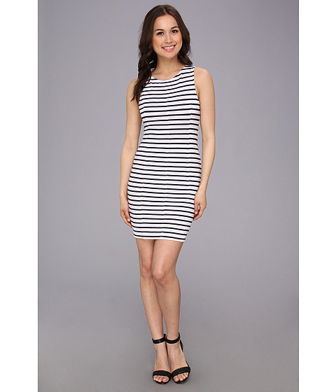 Sanctuary - Spring Stripe Body Con (White/Navy Stripe) Women