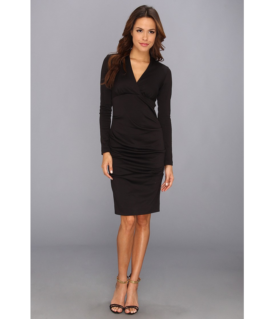 Nicole Miller - Hadley Ponte L/S Dress (Black) Women's Dress