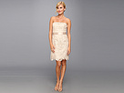 Adrianna Papell Strapless Lace Sheath (Champagne)